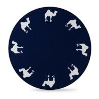 Round Camel Placemat Marine Blue - Set of 4 image