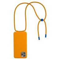 Bonibi Crossbody Phone Case For All Iphone Models  - Tangerine, Cobalt Blue image