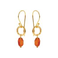 Gita Earrings Facetted Carnelian image