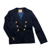 Navy Women's Organic Double Breasted Blazer image