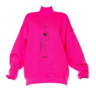 Yin Fuchsia Embroidered Women's Turtleneck image