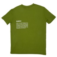 Bamboo Lightweight T-Shirt With Back Print - Green image