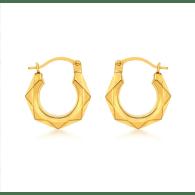 La Oro Hexagon Huggies 9 Carat Gold image