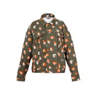 Oversized Printed Khaki Denim Jacket / part of a set image