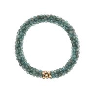 Beaded Gemstone Bracelet - Aquamarine & Gold image