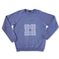 Designer Embroidered Sweater Periwinkle Blue 'Thatch' image