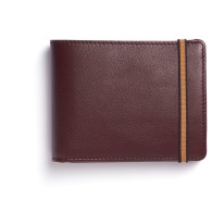Burgundy Minimalist Wallet With Coin Pocket image