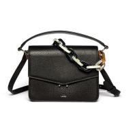 Teca Plexi Chain Bag - Black Silver image