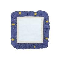 Embroidered Lemon Stripe - Blue image