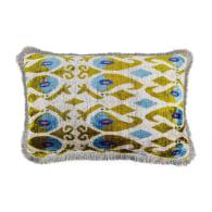 Morris Green & Blue Velvet Cushion image