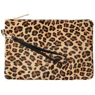 Alethea Leopard Zip Top Clutch image