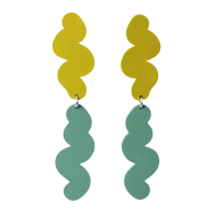 Ripple Earrings - Grass Green & Turquoise image
