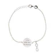 Sterling Silver My Always Infinity Bracelet image