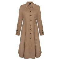 Gretha Shirtdress Camel Cotton With Decorative Buttons image