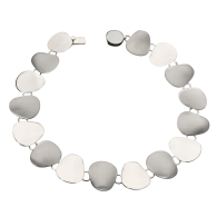 Amala Frosted Silver Necklace image