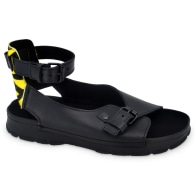 Athens Flat Leather Sandals - Yellow Zebra Limited Edition image