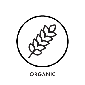 The material or ingredients in this collection are at least 80% derived from organic farming.