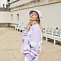 Oversized Pastel Lilac White Cloud Sweatshirt image