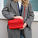 Ridley Crossbody In Coral Red image