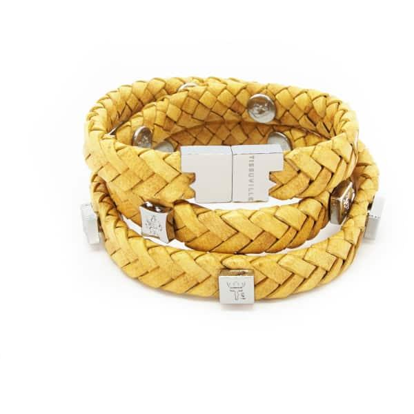 TISSUVILLE Brio Bracelet Mustard Silver