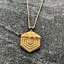 Hexagon Pendant In 18ct Gold Vermeil -  Large Geometric Necklace image