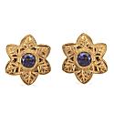 Iolite Flower Stud Earrings image
