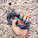 Ghost Net Bleu Recycled Iphone Cable Made Of Discarded Fishing Nets image