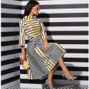 Printed Stripe Top Yellow image