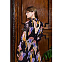 Margit Gloomy Flower Print Open Back Tie Midi Dress image