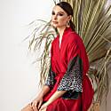 Red Kimono Wrap Dress Massami image