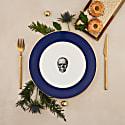 Cobalt Blue Skull Dinner Plate image