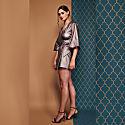Mary-H-Wrap Metallic Dress Kimono image