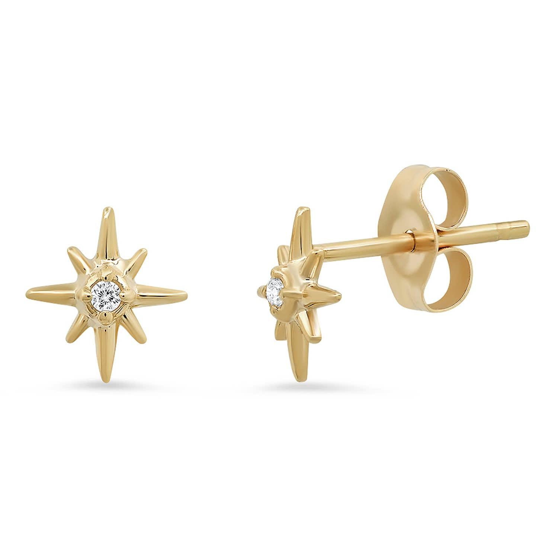 celestial happy earrings. star