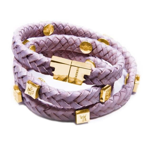 TISSUVILLE Brio Bracelet Powder Pink Gold