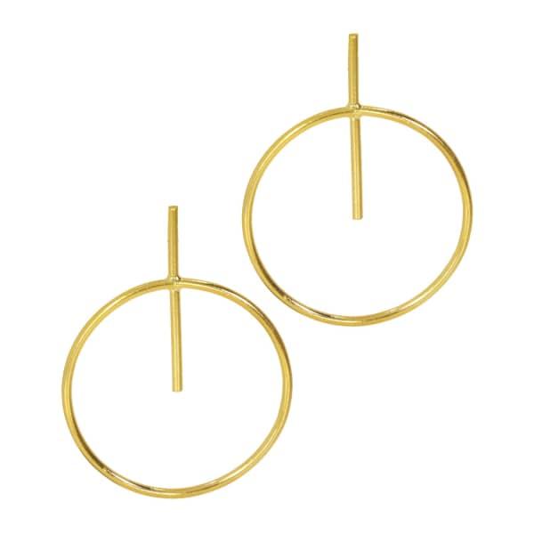 OTTOMAN HANDS Pierced Orbit Gold Stud Earrings