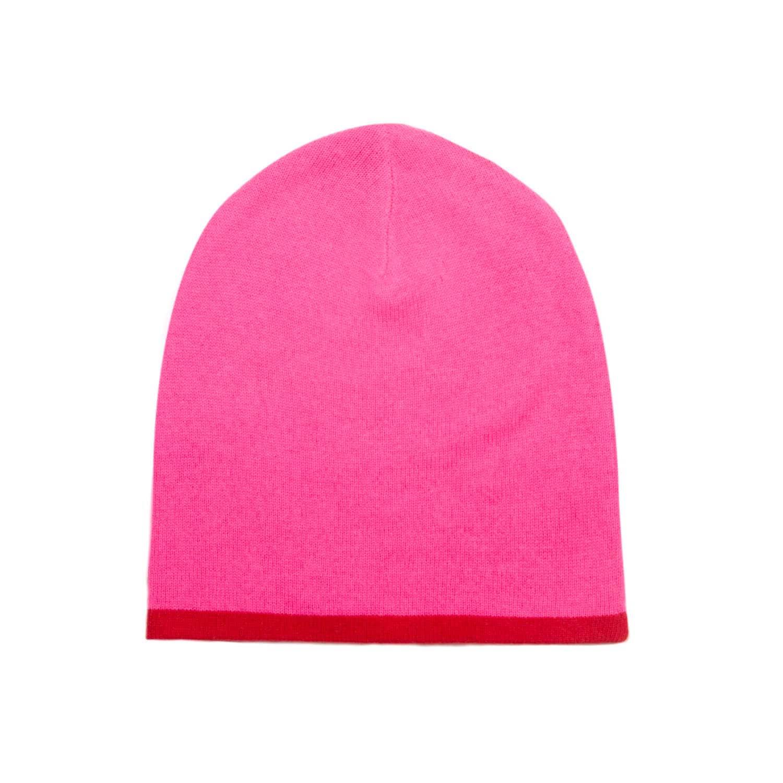 b04be2935 Cashmere Beanie Neon Pink & Red by Orwell + Austen Cashmere