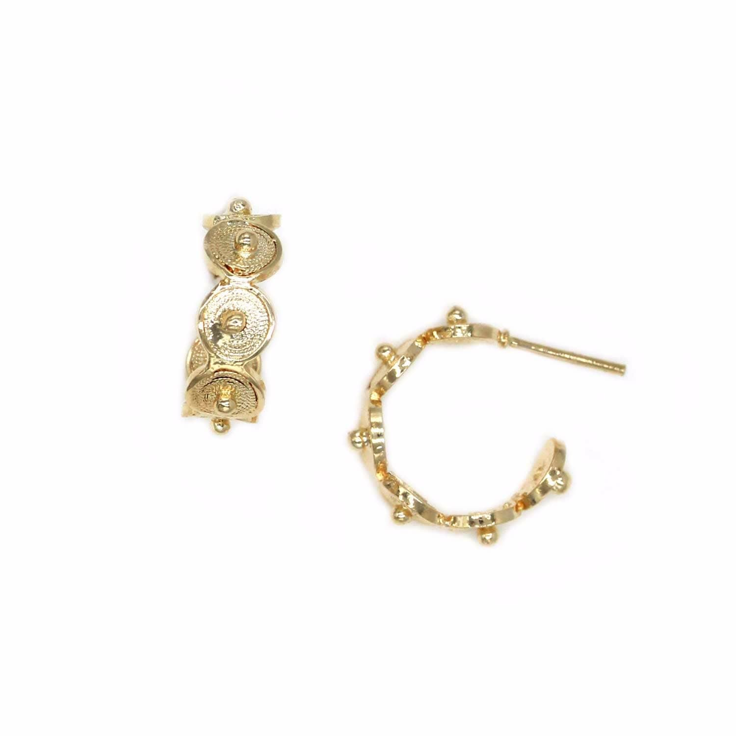 earrings gold jewellery irregular en happiness boutique hoop
