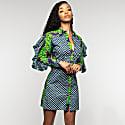 Jess Fitted Ruffle Sleeve Shirt Dress image