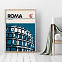 Rome Colosseum Modernist Architectural Travel Poster image
