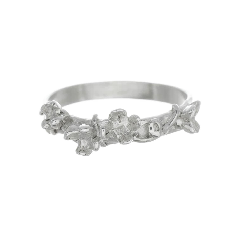 Meadow Flowers Ring Sterling Silver O Uk Lucy Flint Jewellery Wolf Badger