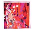 Berry Twill Silk Pocket Square image