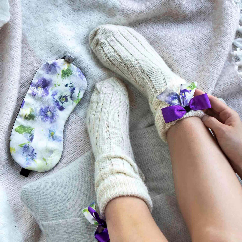 3607b27ae1 Silk Bow Socks   Sleep Mask Gift Set image