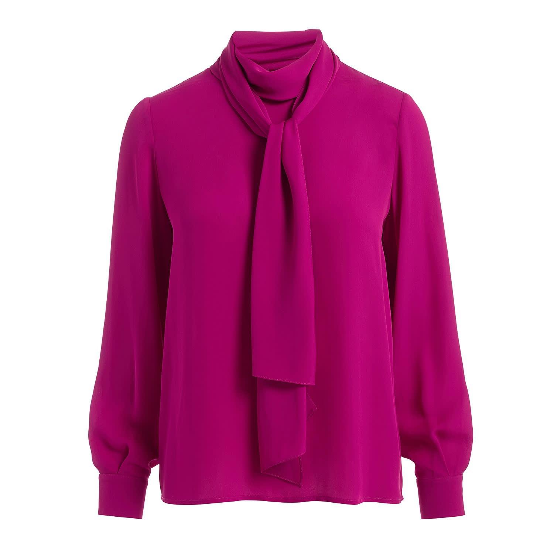 48bcef3d Ida Pink Scarf Silk Blouse | WtR | Wolf & Badger