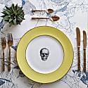 Yellow Skull Dinner Plate image