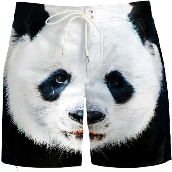 panda board shorts aloha from deer wolf badger. Black Bedroom Furniture Sets. Home Design Ideas