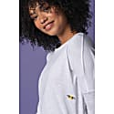 Bee Embroidered Dropped Shoulder T-Shirt White Women image