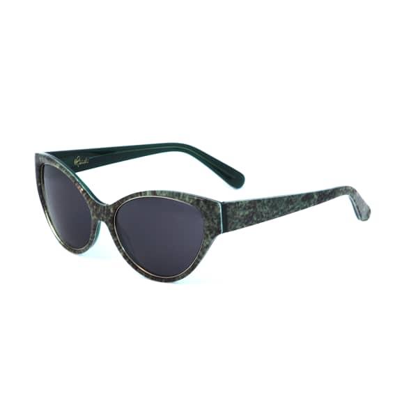 HEIDI LONDON Denim Print Cateye Sunglasses Green