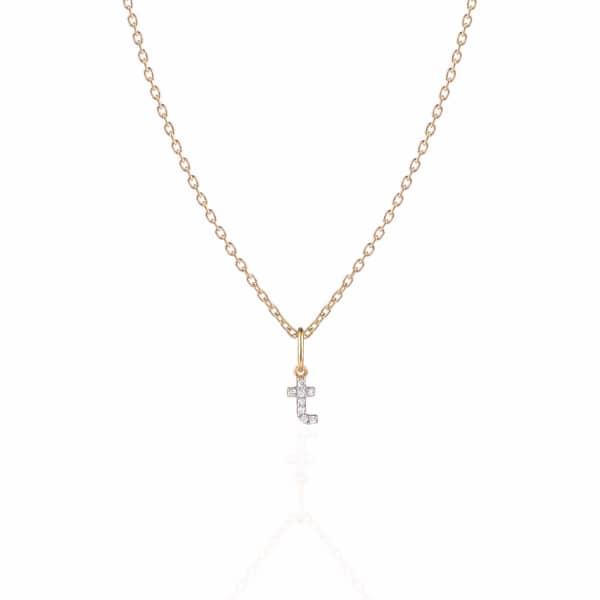 SHARON MILLS LONDON Monogram Mini Diamond Necklace T