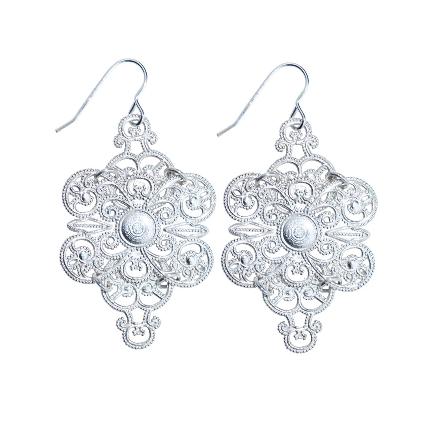 black goods white global and filigree filligree earrings product handup