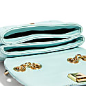 H.O.W. We Slay Small Shoulder Bag In Ice Blue image